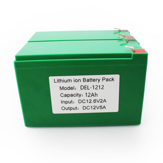 High Quality Customized Li-ion/Lithium Ion 18650 Rechargeable Battery Pack 12V