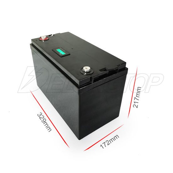 Deep Cycle LiFePO4 12V 100ah Rechargeable Solar Energy Storage Lithium Battery