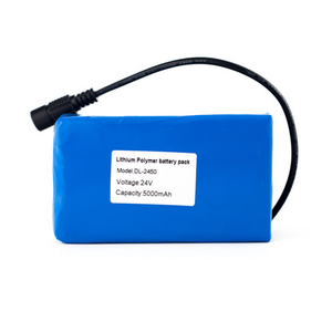 24V 5000mAh Rechargeable Lipo Battery Pack with DC5521 Plug for LED Light