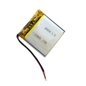 Lithium Ion Rechargeable 3.7V 303030 Size 210mAh Li Polymer Battery Cells for Power Bank Smart Watch Batteries